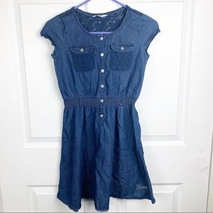 Guess Kids Blue Cap Sleeve Dress